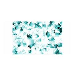 Modern Teal Cubes Satin Wrap by timelessartoncanvas