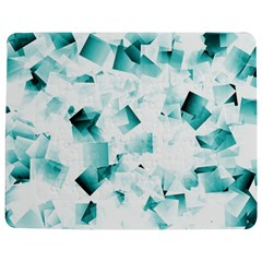 Modern Teal Cubes Jigsaw Puzzle Photo Stand (rectangular) by timelessartoncanvas