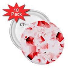 Modern Red Cubes 2 25  Buttons (10 Pack)  by timelessartoncanvas