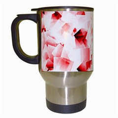 Modern Red Cubes Travel Mugs (white) by timelessartoncanvas