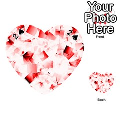 Modern Red Cubes Playing Cards 54 (heart)  by timelessartoncanvas