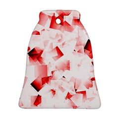 Modern Red Cubes Ornament (bell)  by timelessartoncanvas