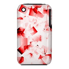 Modern Red Cubes Apple iPhone 3G/3GS Hardshell Case (PC+Silicone) by timelessartoncanvas