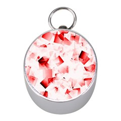 Modern Red Cubes Mini Silver Compasses by timelessartoncanvas