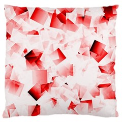 Modern Red Cubes Standard Flano Cushion Cases (two Sides)  by timelessartoncanvas