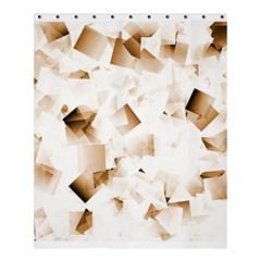 Modern Brown Cubes Shower Curtain 60  X 72  (medium)  by timelessartoncanvas