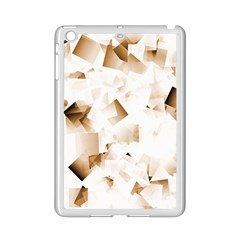 Modern Brown Cubes iPad Mini 2 Enamel Coated Cases by timelessartoncanvas