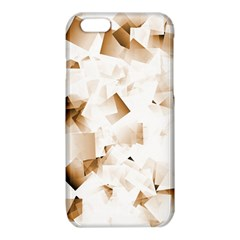 Modern Brown Cubes iPhone 6/6S TPU Case by timelessartoncanvas