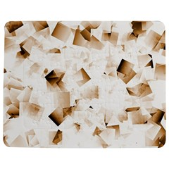 Modern Brown Cubes Jigsaw Puzzle Photo Stand (rectangular) by timelessartoncanvas