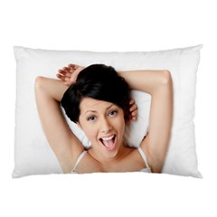 Lady in bed Pillow Case by typewriter