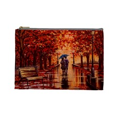 Unspoken Love Cosmetic Bag (large) by ArtByThree
