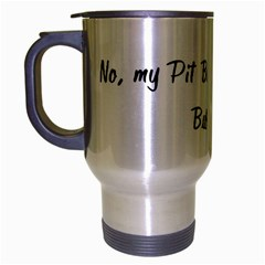 No, My Pit Bull Doesn t Bite Travel Mug (silver Gray) by ButThePitBull