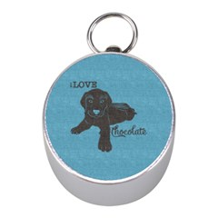 I Love Chocolate Labs Mini Silver Compasses by SalonOfArtDesigns