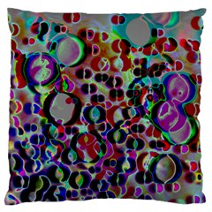 A Dream Of Bubbles 2 Large Flano Cushion Cases (two Sides)  by sirhowardlee