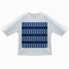 Blue White Diamond Pattern  Infant/toddler T Shirts by Costasonlineshop