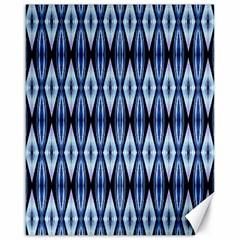 Blue White Diamond Pattern  Canvas 16  X 20   by Costasonlineshop