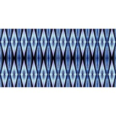 Blue White Diamond Pattern  You Are Invited 3d Greeting Card (8x4)  by Costasonlineshop