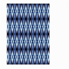 Blue White Diamond Pattern  Large Garden Flag (two Sides) by Costasonlineshop