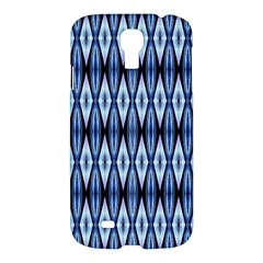 Blue White Diamond Pattern  Samsung Galaxy S4 I9500/i9505 Hardshell Case by Costasonlineshop