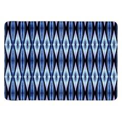 Blue White Diamond Pattern  Samsung Galaxy Tab 8 9  P7300 Flip Case by Costasonlineshop
