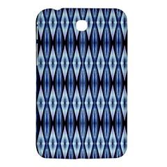 Blue White Diamond Pattern  Samsung Galaxy Tab 3 (7 ) P3200 Hardshell Case  by Costasonlineshop