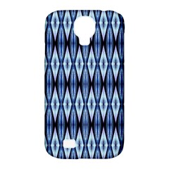 Blue White Diamond Pattern  Samsung Galaxy S4 Classic Hardshell Case (pc+silicone) by Costasonlineshop