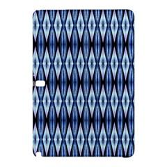 Blue White Diamond Pattern  Samsung Galaxy Tab Pro 10 1 Hardshell Case by Costasonlineshop