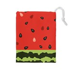 watermelon - Drawstring Pouch (Large)