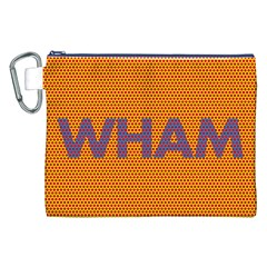 Comic Book Wham Dots Canvas Cosmetic Bag (xxl)  by ComicBookPOP