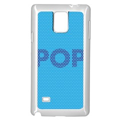 Comic Book Pop Dots Samsung Galaxy Note 4 Case (White) by ComicBookPOP