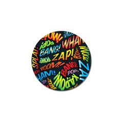 Comic Book Sounds Golf Ball Marker (4 Pack) by ComicBookPOP