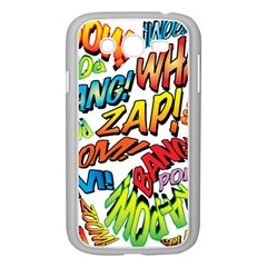 Comic Book Sounds Samsung Galaxy Grand DUOS I9082 Case (White) by ComicBookPOP