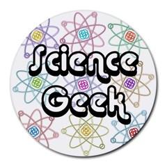 Science Geek Round Mousepads by ScienceGeek