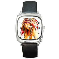 Indian 26 Square Metal Watch by indianwarrior