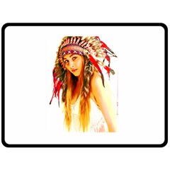Indian 26 Double Sided Fleece Blanket (large)  by indianwarrior