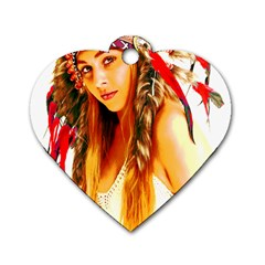 Indian 26 Dog Tag Heart (two Sides) by indianwarrior