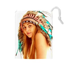 Indian 27 Drawstring Pouches (large)  by indianwarrior