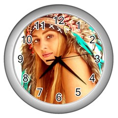 Indian 27 Wall Clocks (silver)  by indianwarrior