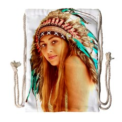 Indian 27 Drawstring Bag (large) by indianwarrior