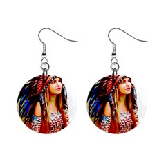 Indian 22 Mini Button Earrings by indianwarrior