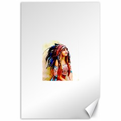 Indian 22 Canvas 20  X 30   by indianwarrior