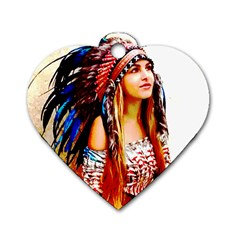 Indian 22 Dog Tag Heart (two Sides) by indianwarrior