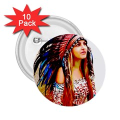 Indian 22 2 25  Buttons (10 Pack)  by indianwarrior