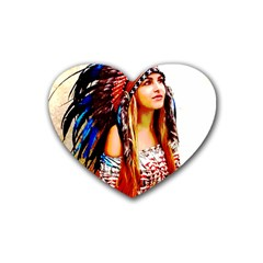 Indian 22 Rubber Coaster (heart)  by indianwarrior