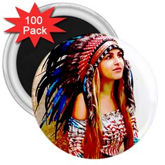 Indian 22 3  Magnets (100 Pack) by indianwarrior