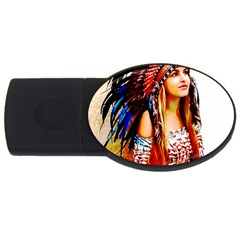 Indian 22 Usb Flash Drive Oval (4 Gb)  by indianwarrior