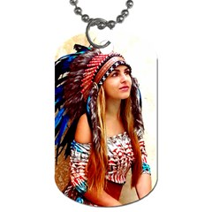 Indian 21 Dog Tag (one Side) by indianwarrior