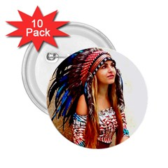 Indian 21 2 25  Buttons (10 Pack)  by indianwarrior