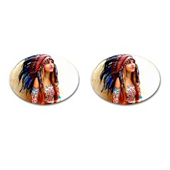 Indian 21 Cufflinks (oval) by indianwarrior