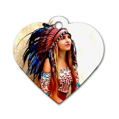 Indian 21 Dog Tag Heart (one Side) by indianwarrior